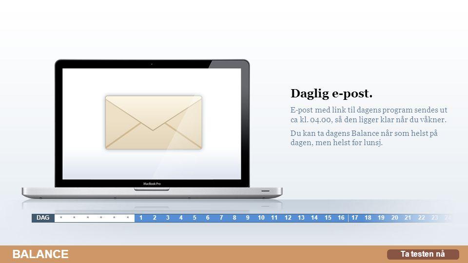 Daglig e-post.