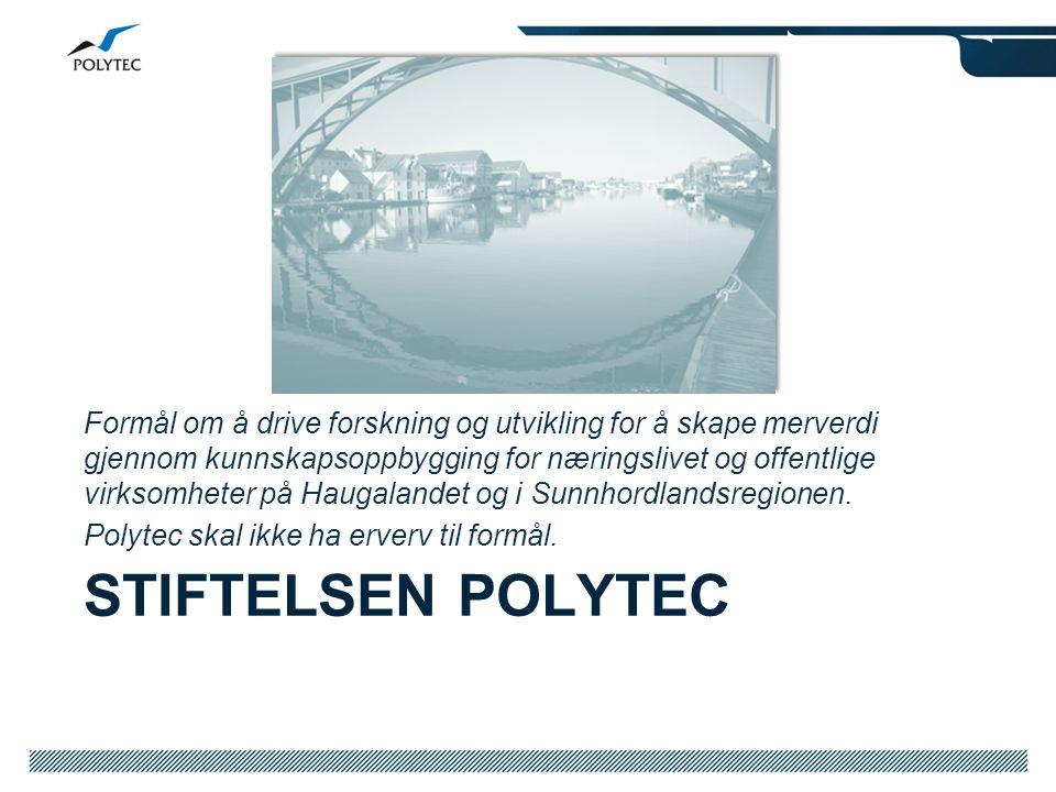 Formål om å drive forskning og utvikling for å skape merverdi gjennom kunnskapsoppbygging for næringslivet og offentlige virksomheter på Haugalandet og i Sunnhordlandsregionen.