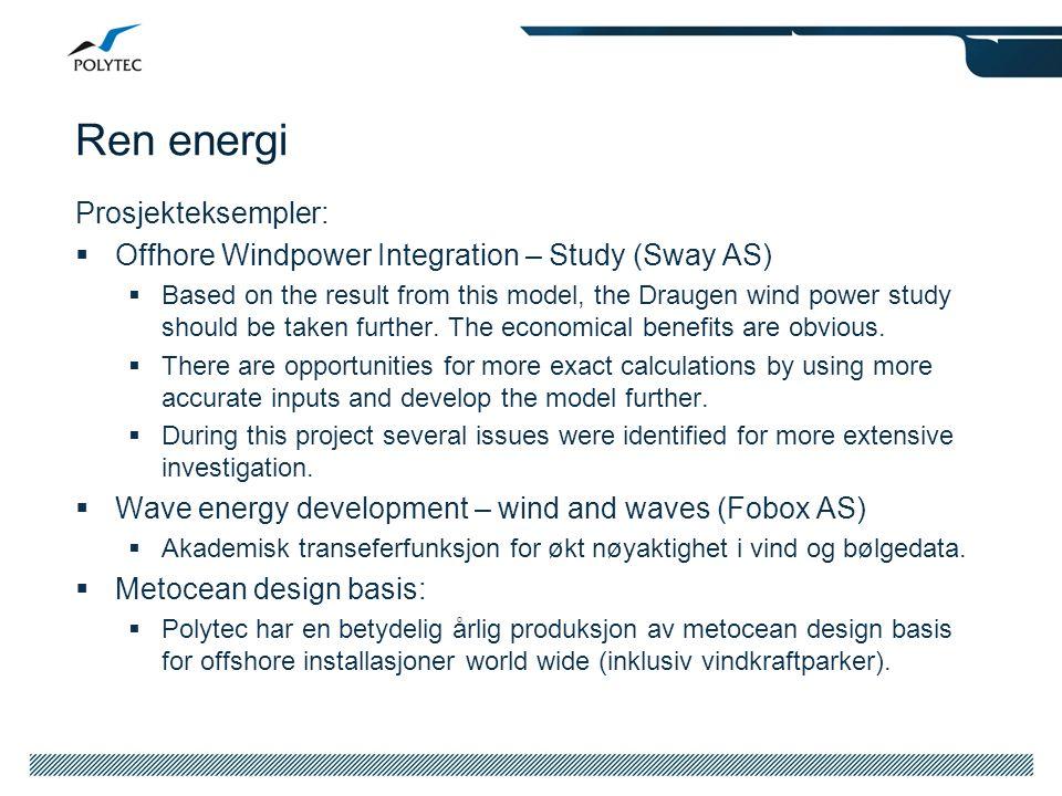 Ren energi Prosjekteksempler: