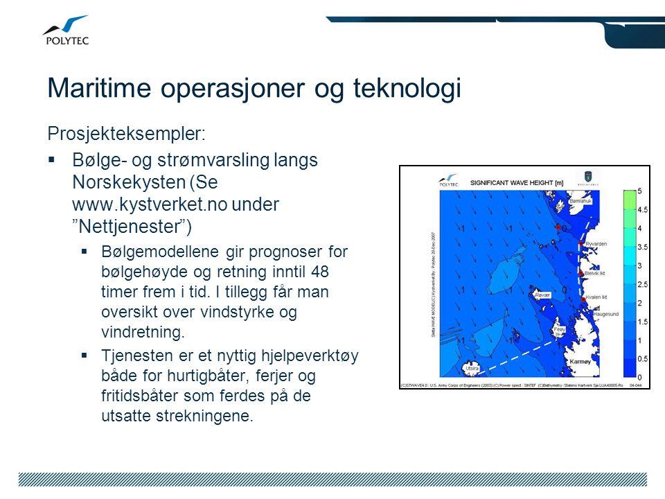 Maritime operasjoner og teknologi