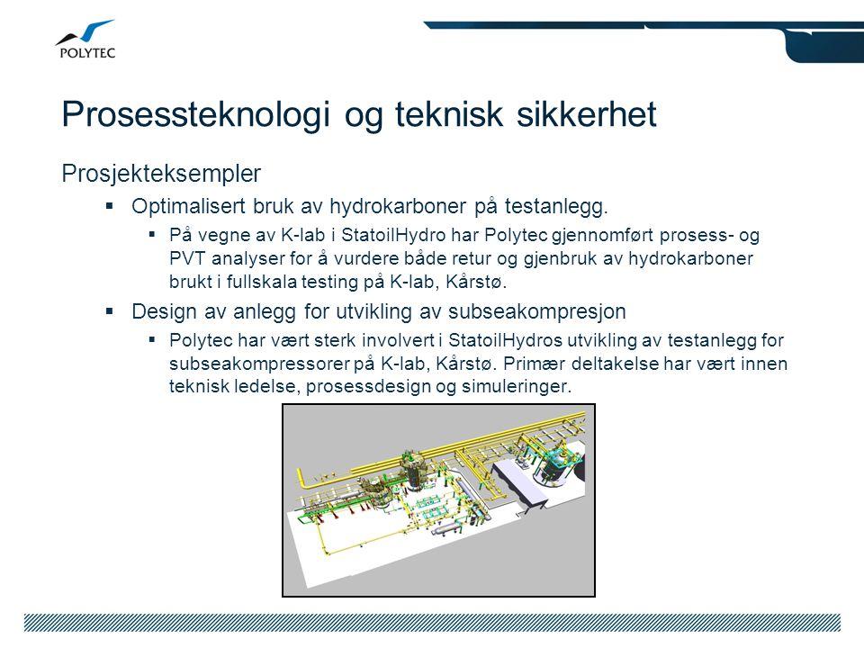 Prosessteknologi og teknisk sikkerhet