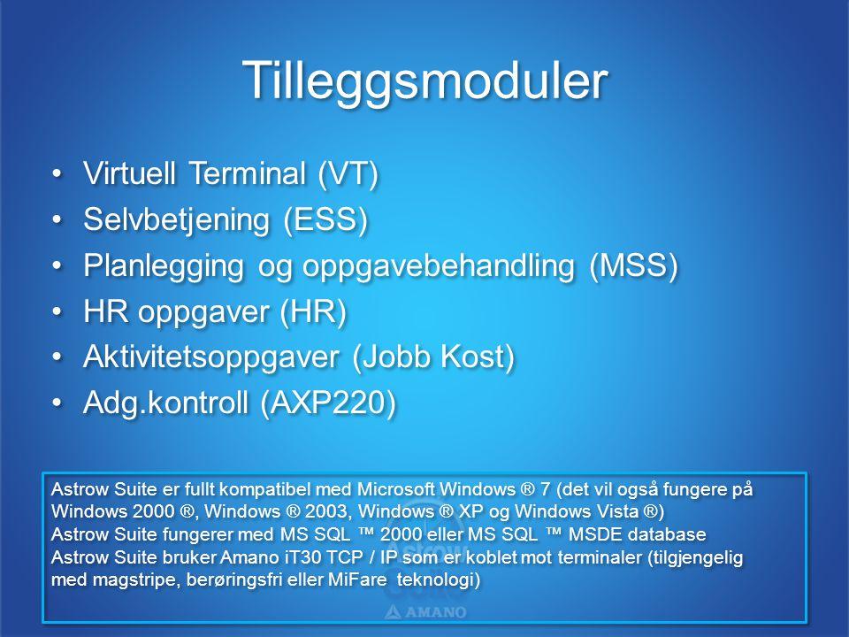 Tilleggsmoduler Virtuell Terminal (VT) Selvbetjening (ESS)