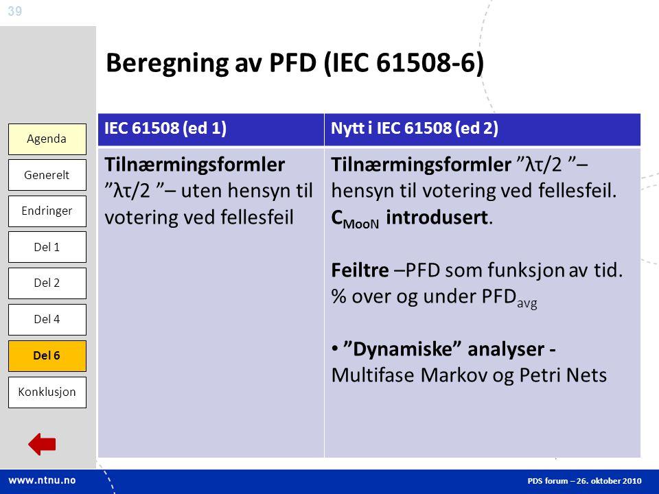 Beregning av PFD (IEC 61508-6)