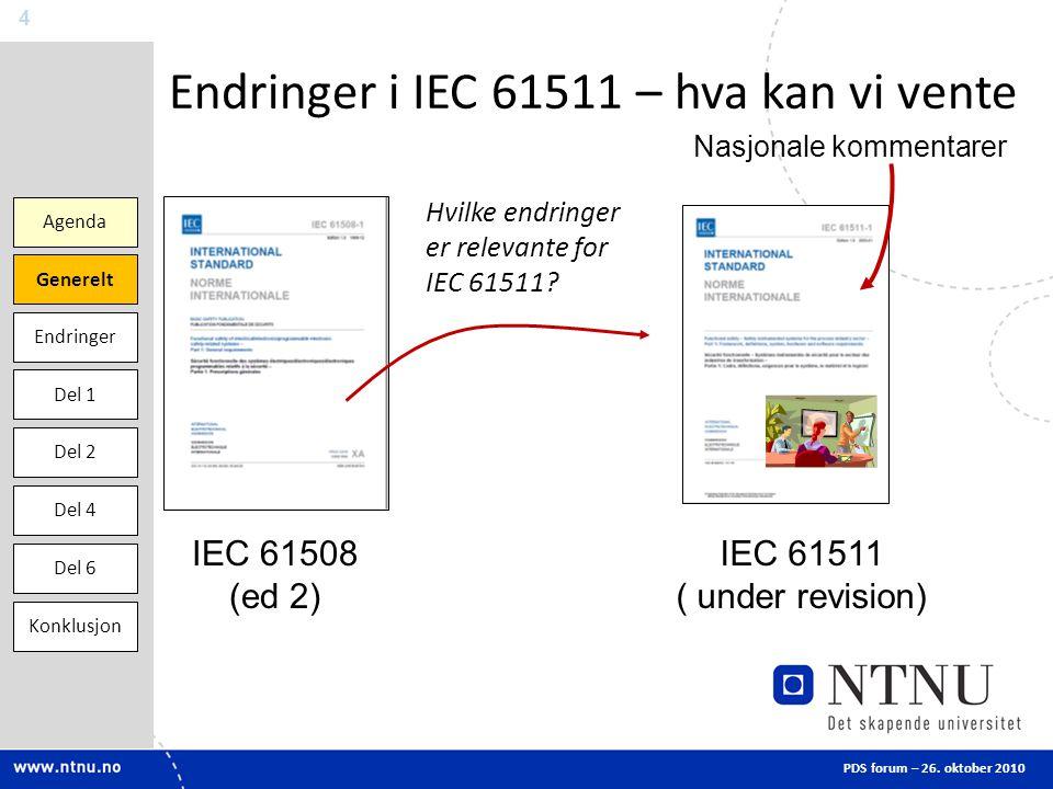 Endringer i IEC 61511 – hva kan vi vente