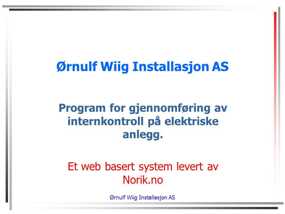 Ørnulf Wiig Installasjon AS
