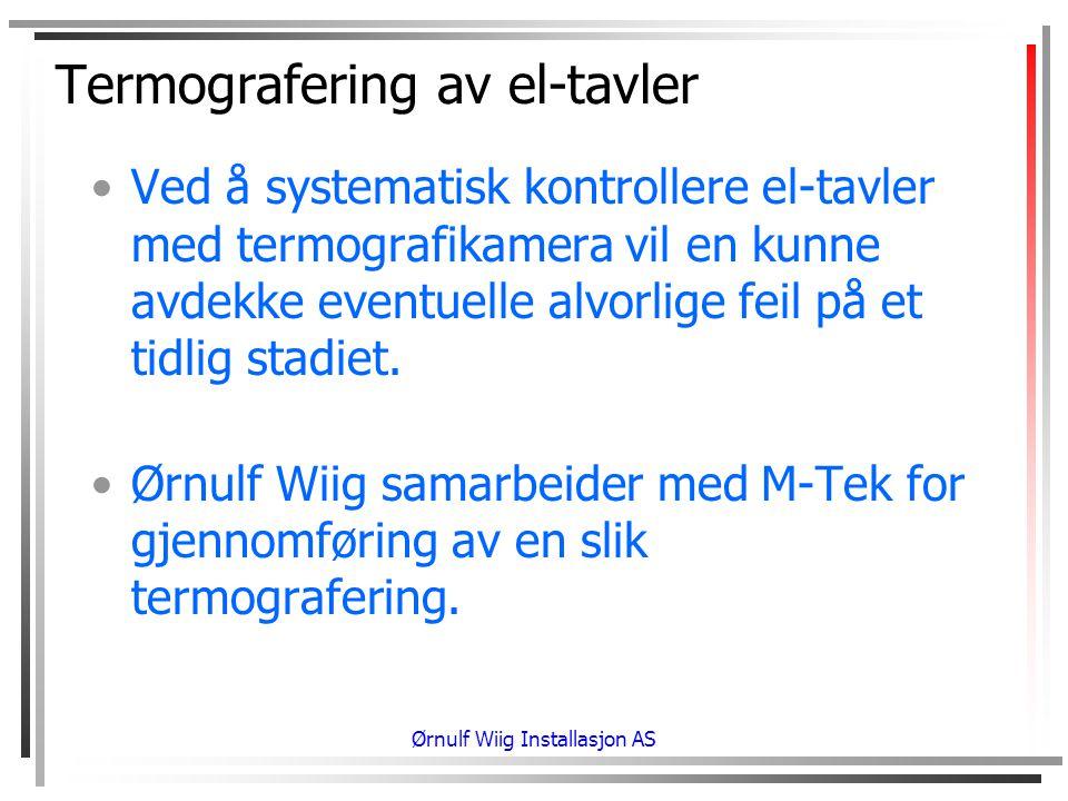 Termografering av el-tavler