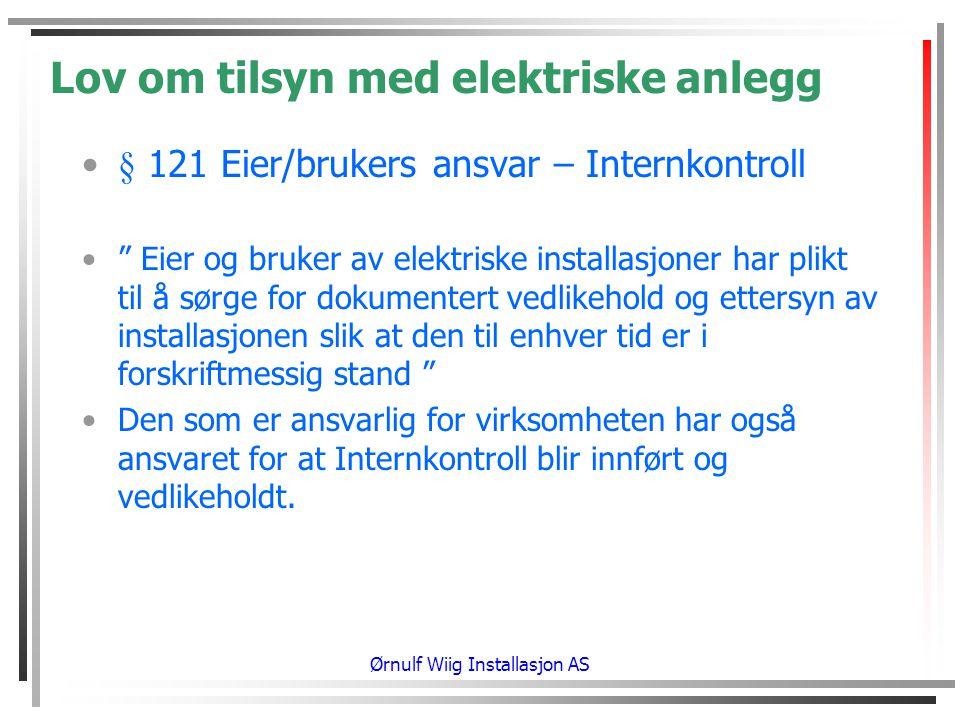 Lov om tilsyn med elektriske anlegg