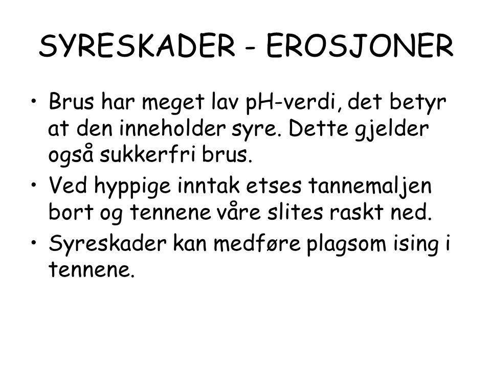 SYRESKADER - EROSJONER
