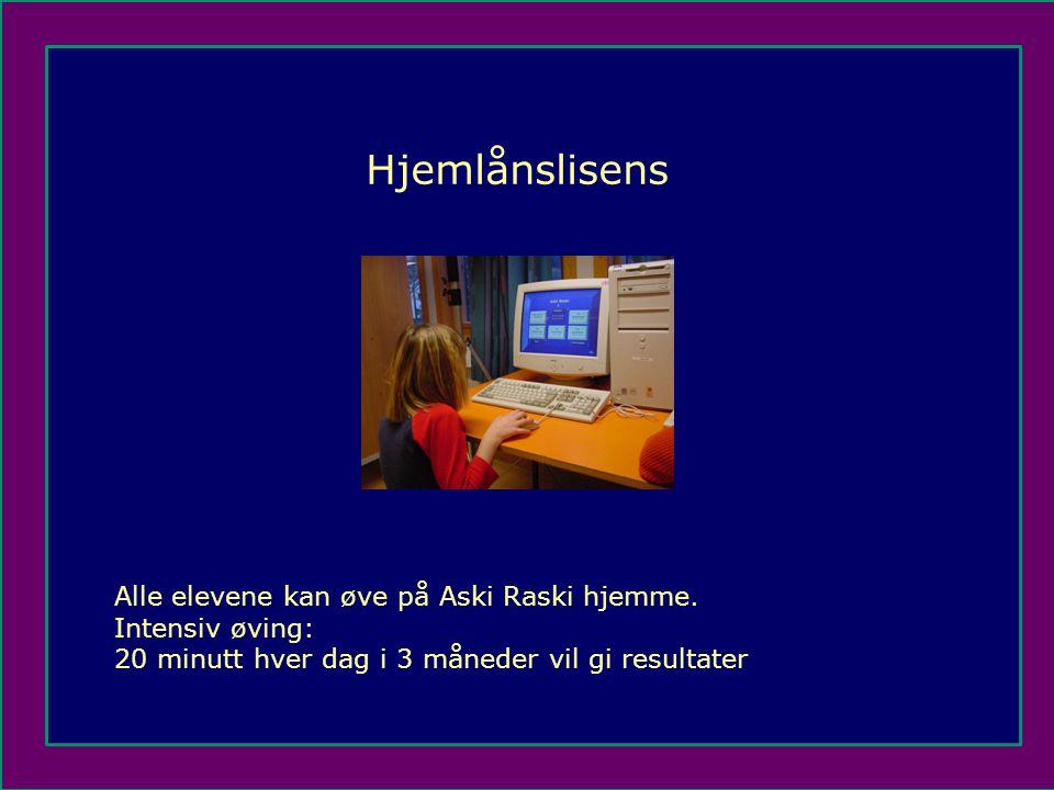 Hjemlånslisens Alle elevene kan øve på Aski Raski hjemme.