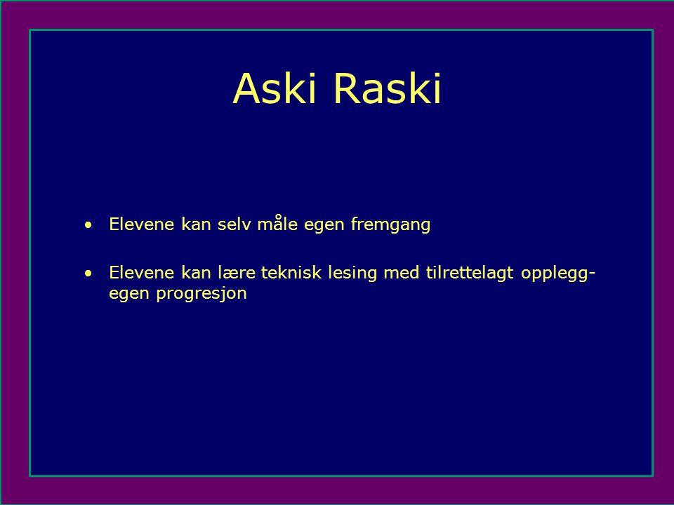 Aski Raski Elevene kan selv måle egen fremgang