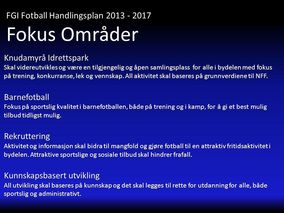 Fokus Områder FGI Fotball Handlingsplan 2013 - 2017