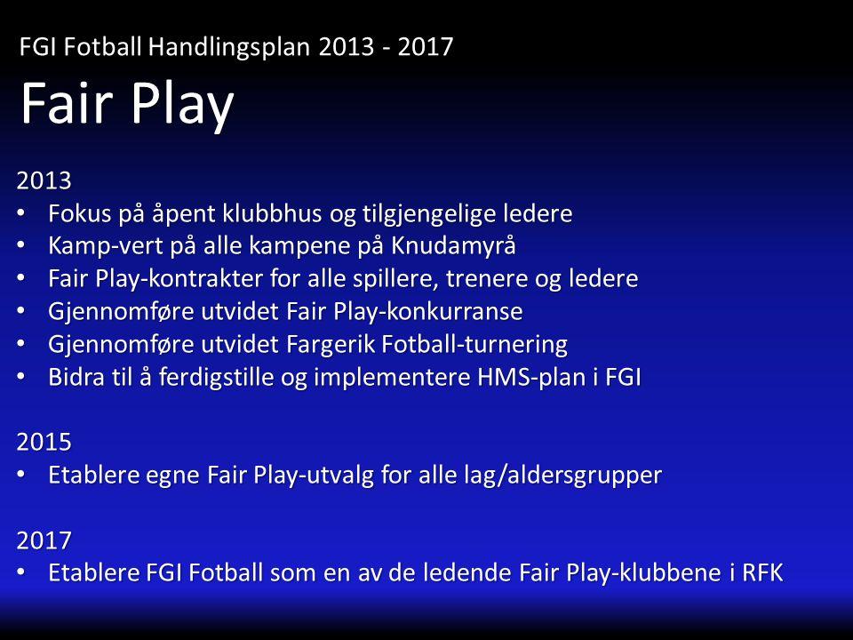 Fair Play FGI Fotball Handlingsplan 2013 - 2017 2013