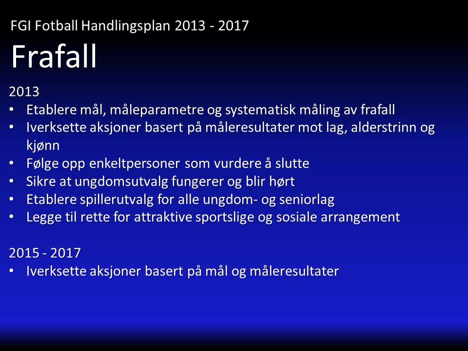 Frafall FGI Fotball Handlingsplan 2013 - 2017 2013