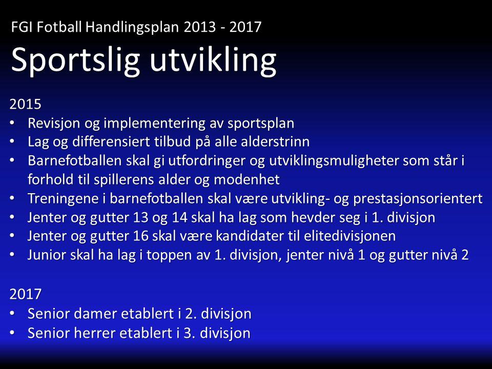 Sportslig utvikling FGI Fotball Handlingsplan 2013 - 2017 2017