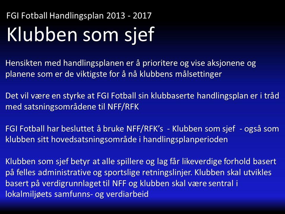 Klubben som sjef FGI Fotball Handlingsplan 2013 - 2017