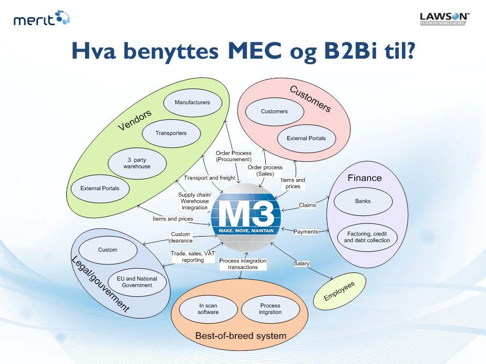 Hva benyttes MEC og B2Bi til