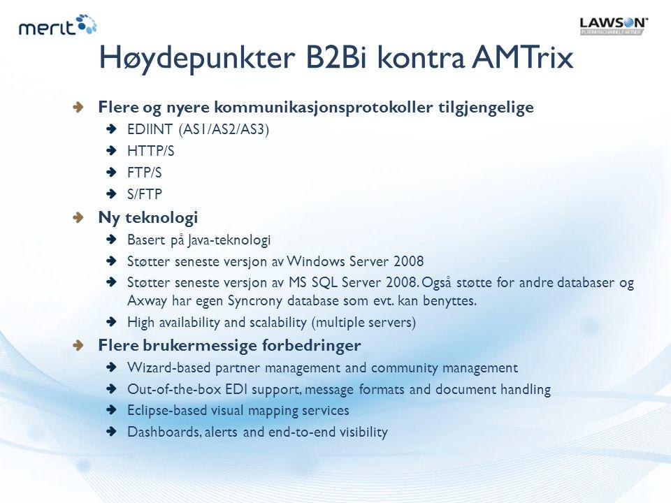 Høydepunkter B2Bi kontra AMTrix