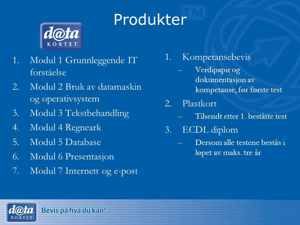 Produkter Kompetansebevis Modul 1 Grunnleggende IT forståelse