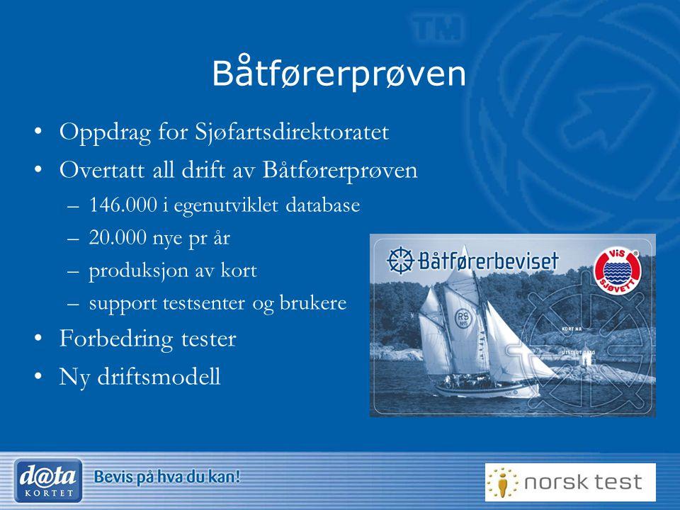 Båtførerprøven Oppdrag for Sjøfartsdirektoratet