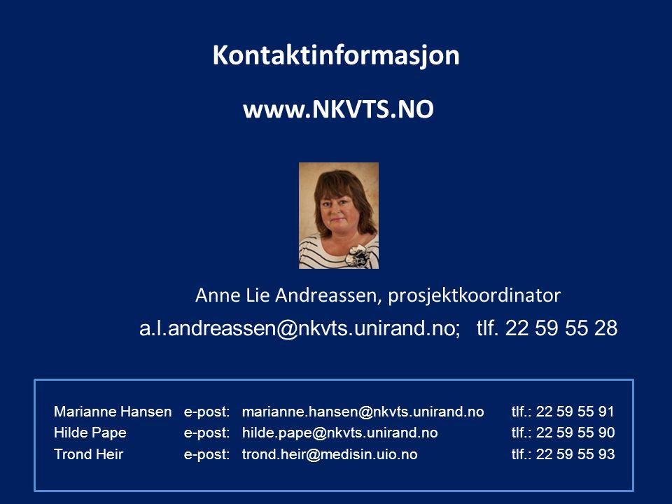 Kontaktinformasjon www.NKVTS.NO
