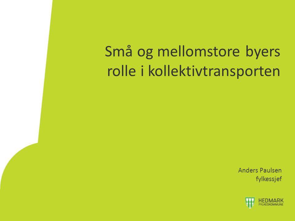 Små og mellomstore byers rolle i kollektivtransporten