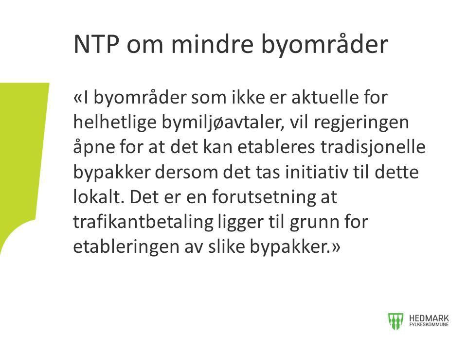 NTP om mindre byområder