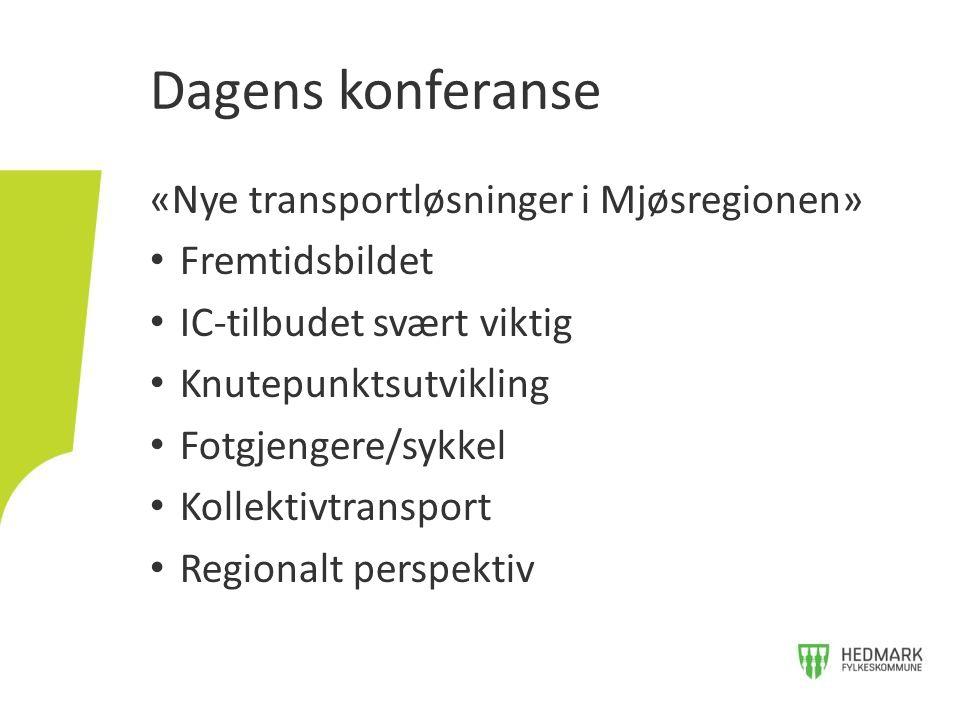 Dagens konferanse «Nye transportløsninger i Mjøsregionen»