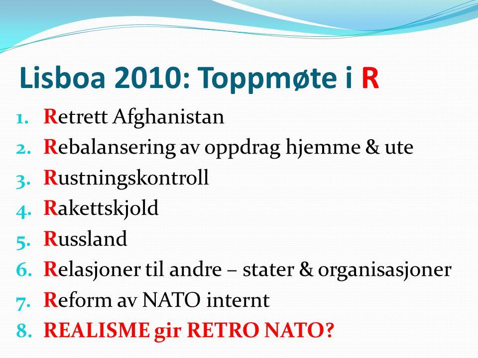 Lisboa 2010: Toppmøte i R Retrett Afghanistan