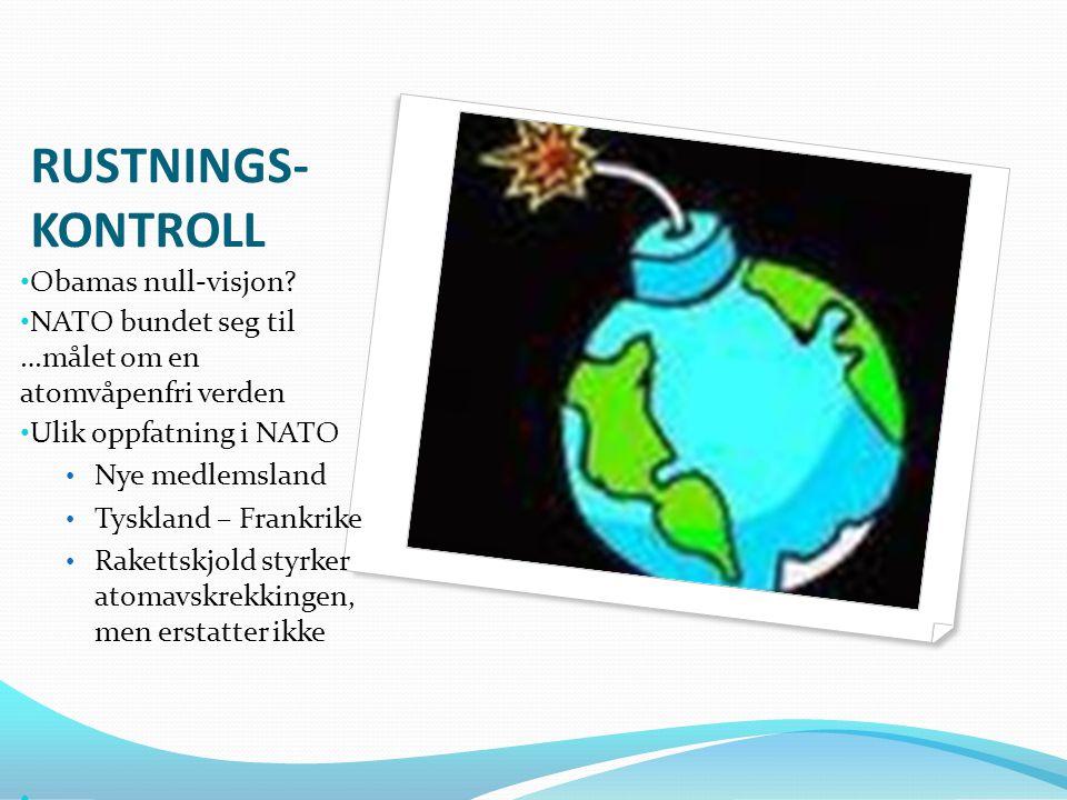 RUSTNINGS-KONTROLL Obamas null-visjon