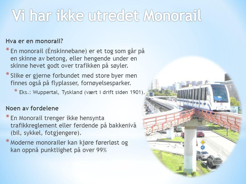 Vi har ikke utredet Monorail