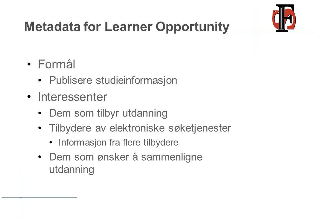 Metadata for Learner Opportunity