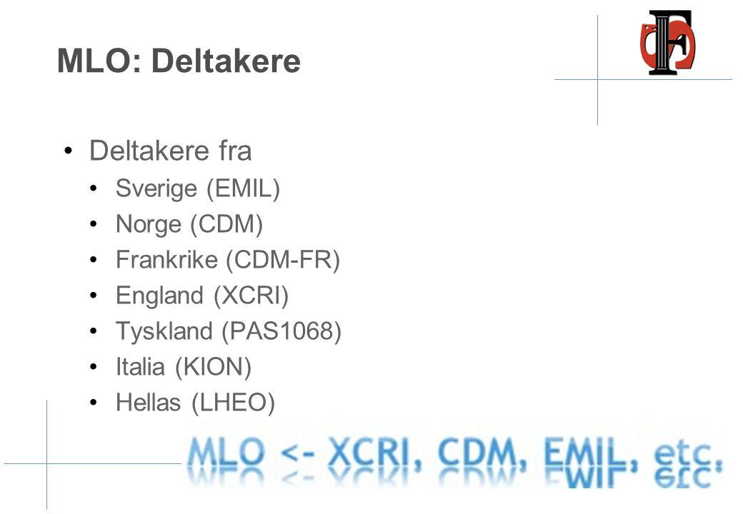 MLO: Deltakere Deltakere fra Sverige (EMIL) Norge (CDM)