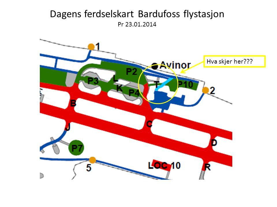 Dagens ferdselskart Bardufoss flystasjon