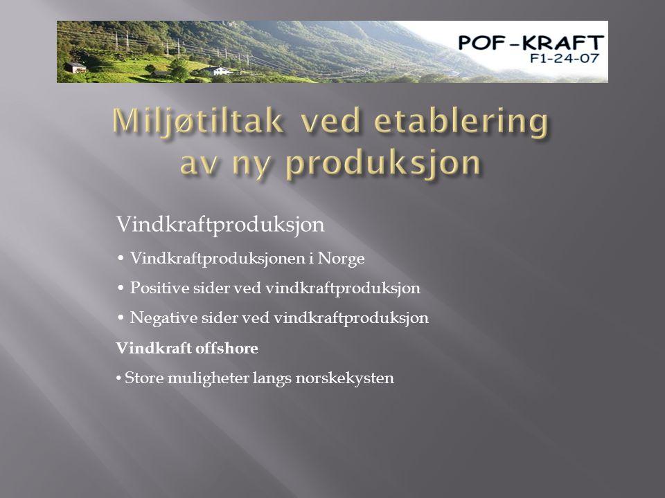 Miljøtiltak ved etablering av ny produksjon