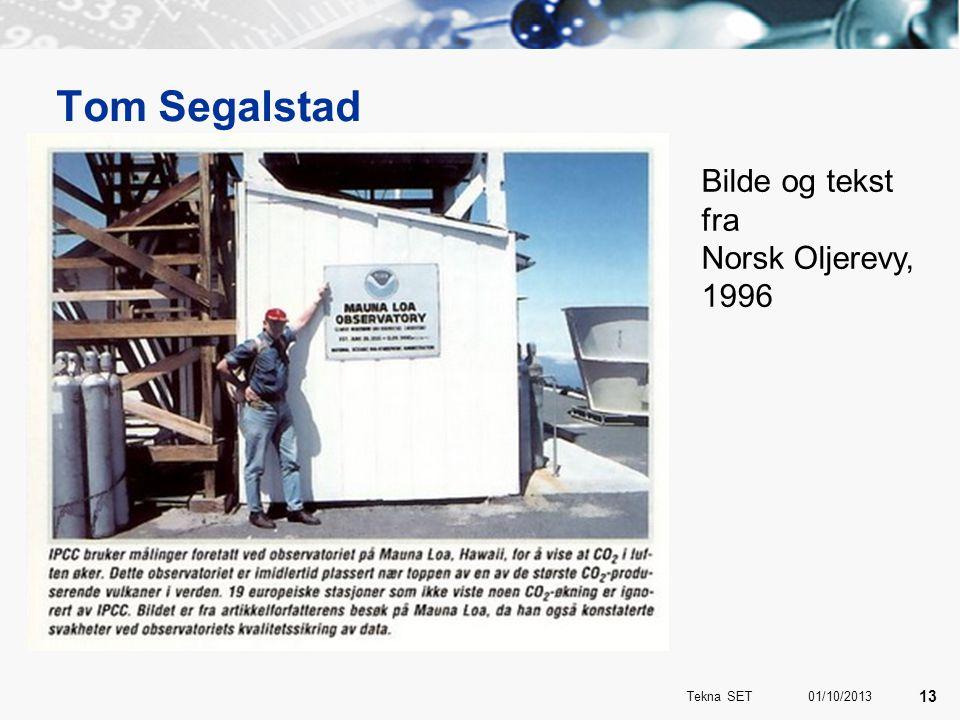 Tom Segalstad Bilde og tekst fra Norsk Oljerevy, 1996