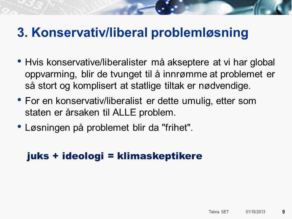 3. Konservativ/liberal problemløsning