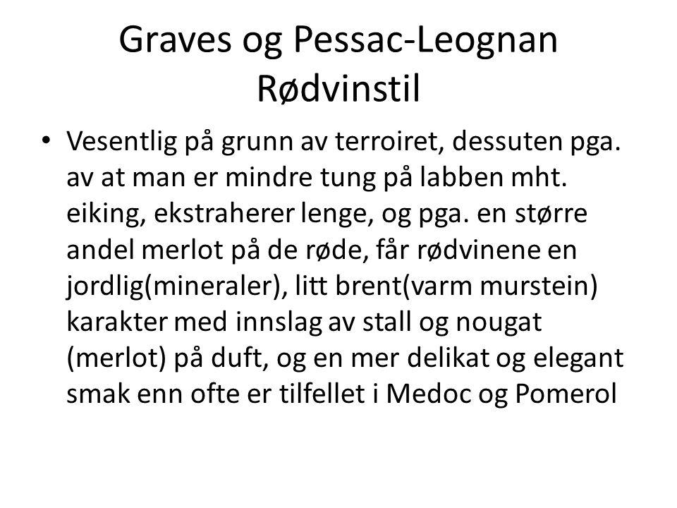 Graves og Pessac-Leognan Rødvinstil