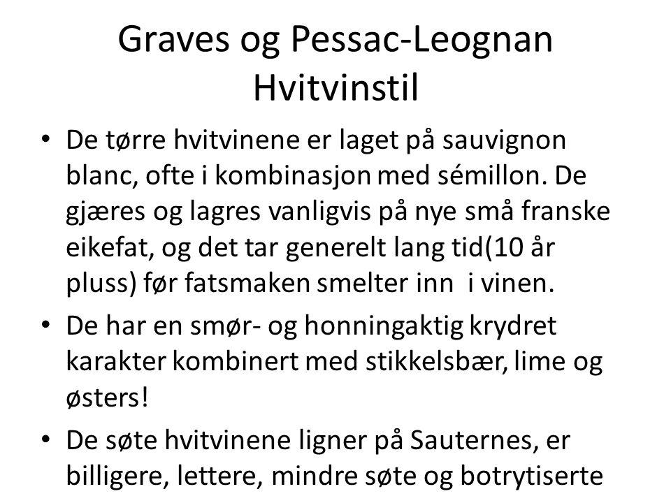 Graves og Pessac-Leognan Hvitvinstil