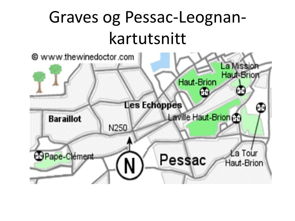 Graves og Pessac-Leognan-kartutsnitt
