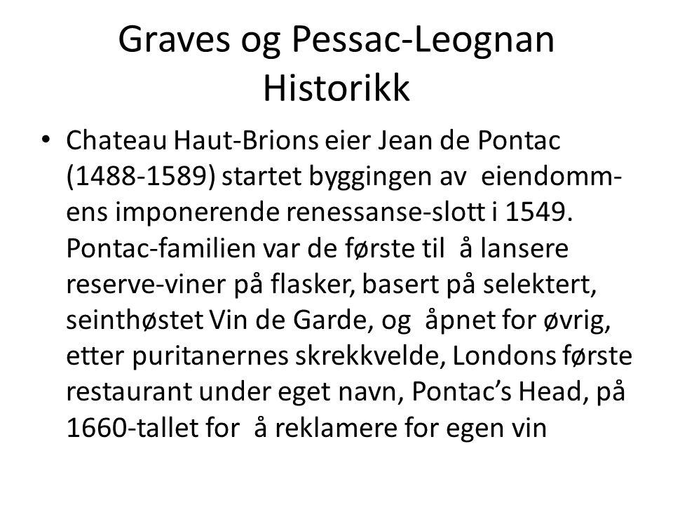 Graves og Pessac-Leognan Historikk