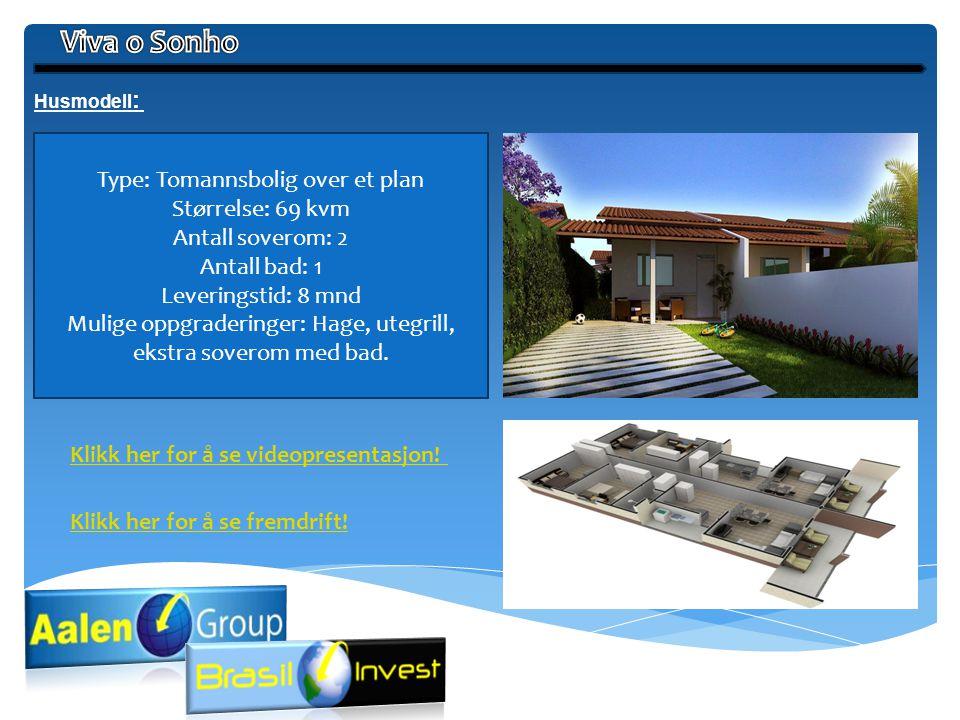 Viva o Sonho Type: Tomannsbolig over et plan Størrelse: 69 kvm