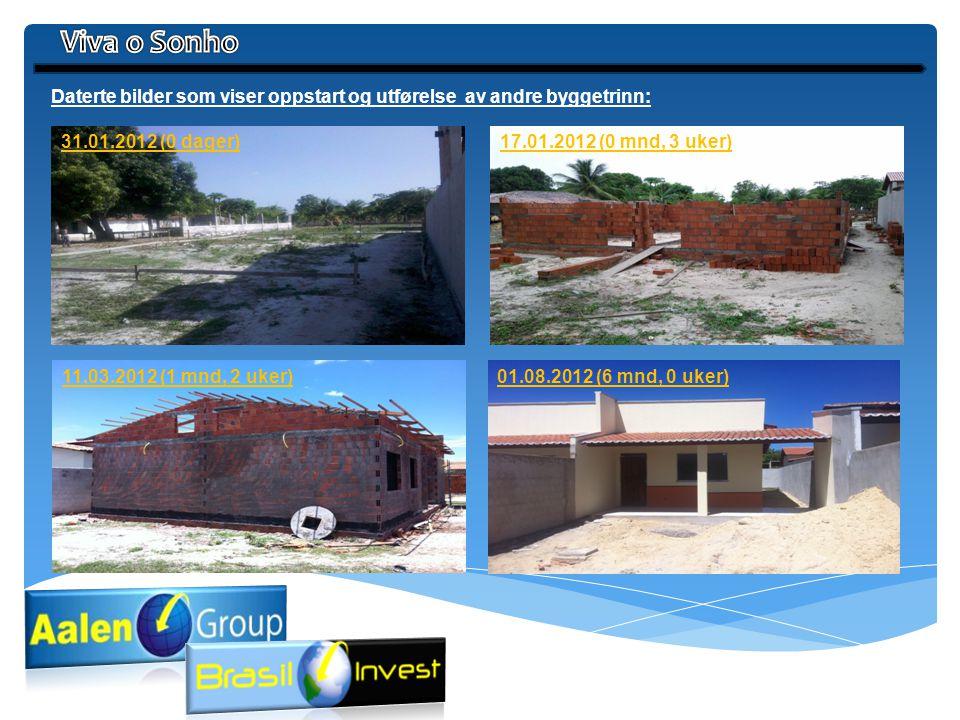 Viva o Sonho Daterte bilder som viser oppstart og utførelse av andre byggetrinn: 31.01.2012 (0 dager)