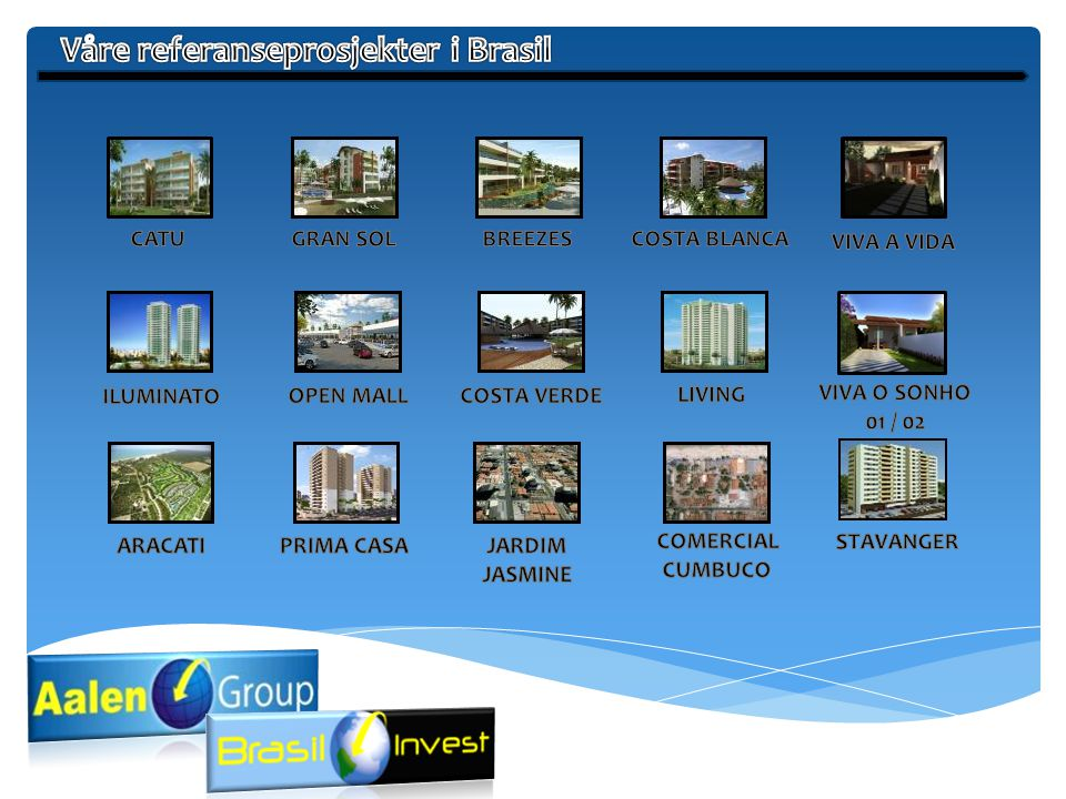Våre referanseprosjekter i Brasil