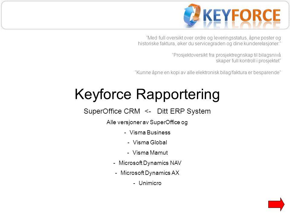 Keyforce Rapportering