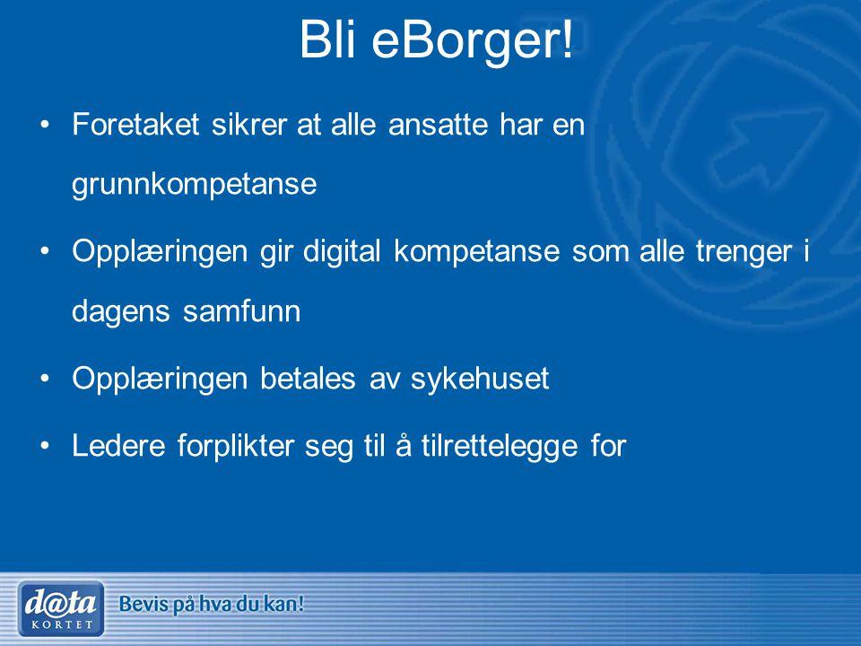 Bli eBorger! Foretaket sikrer at alle ansatte har en grunnkompetanse