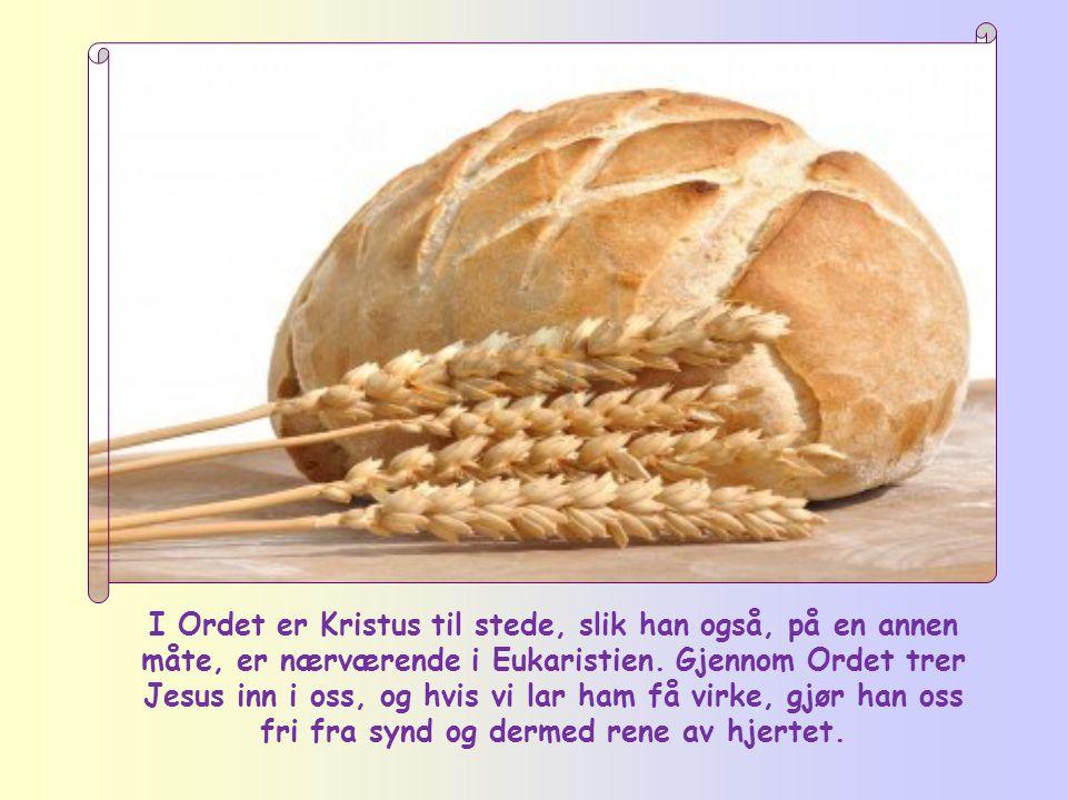 I Ordet er Kristus til stede, slik han også, på en annen måte, er nærværende i Eukaristien.