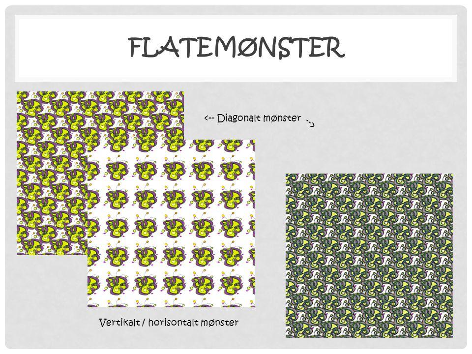 Flatemønster <-- Diagonalt mønster -->