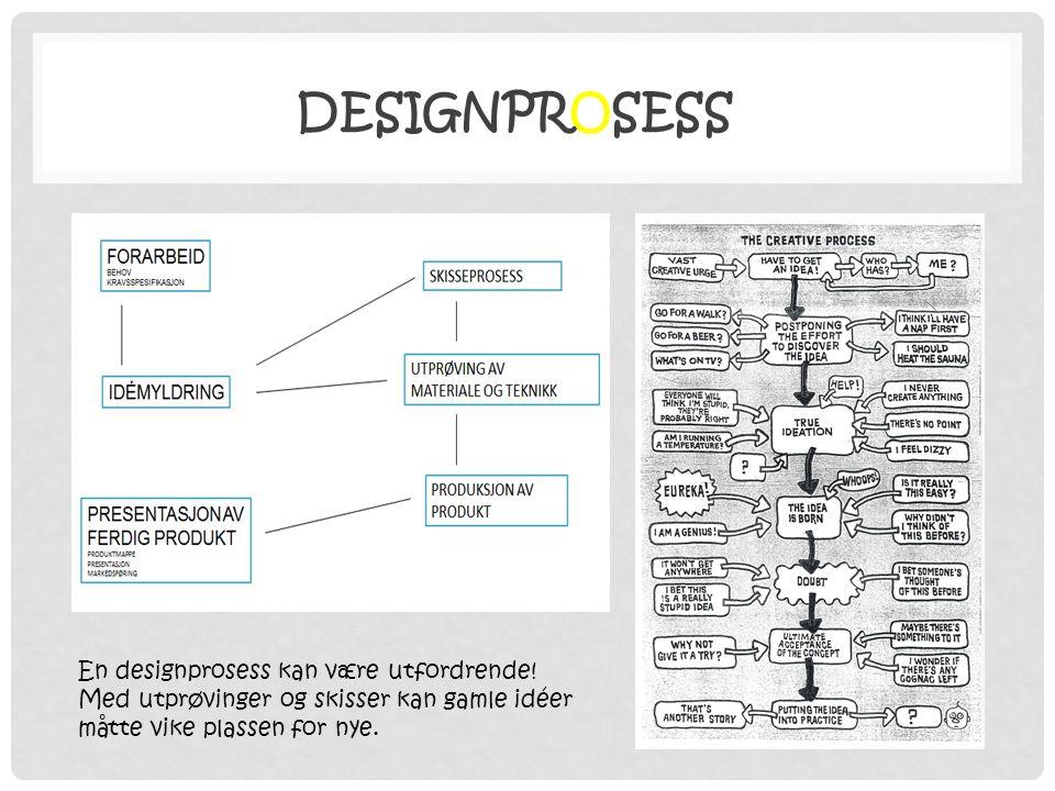 DESIGNPROSESS En designprosess kan være utfordrende.