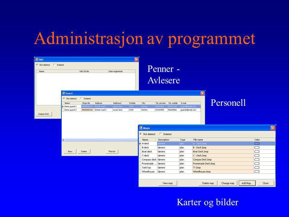 Administrasjon av programmet