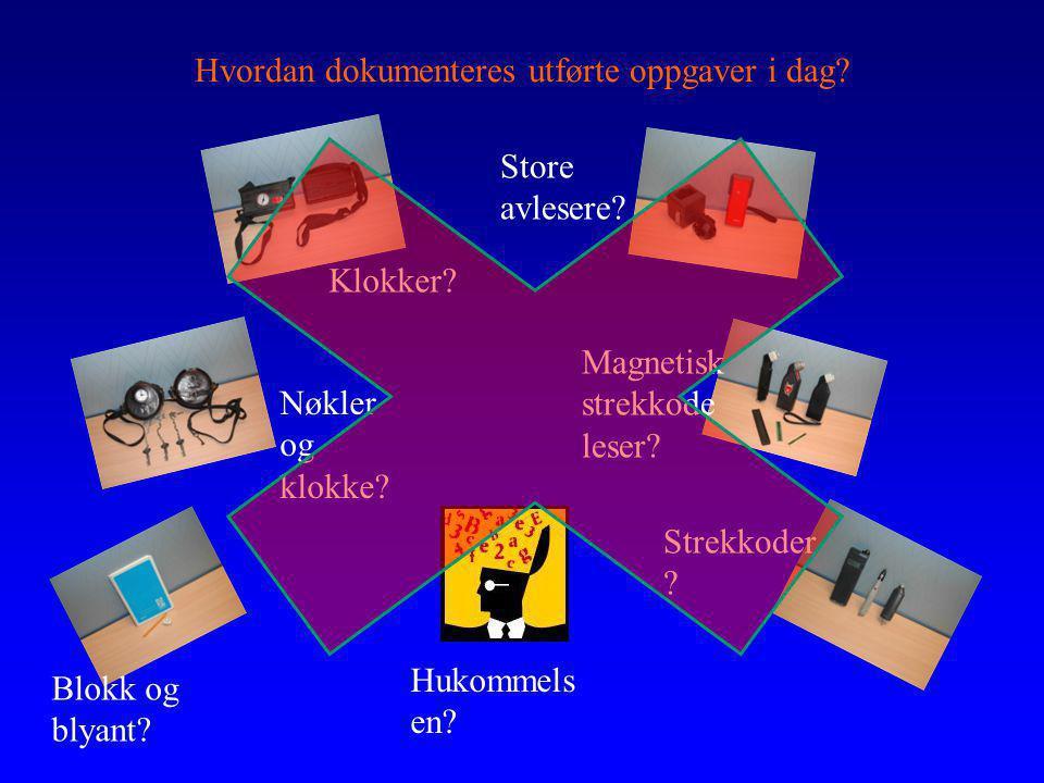 Hvordan dokumenteres utførte oppgaver i dag